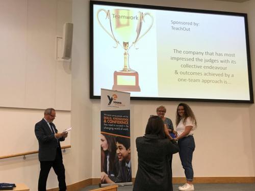 TeachOut sponsors team award at YE Devon final